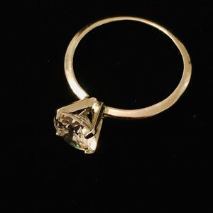White Gold Electroplated Solitaire Ring